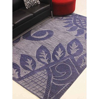 Vannatter Contemporary Hand-Tufted Wool Blue Area Rug