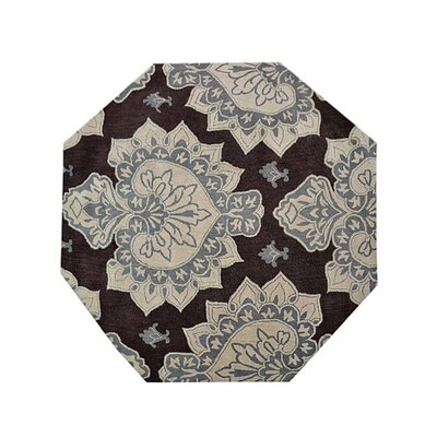 Ry Hand-Tufted Wool Cream/Brown Area Rug