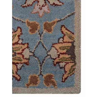 Abraham Vintage Hand-Woven Wool Brown/Light Blue Area Rug Rug Size: Square 10
