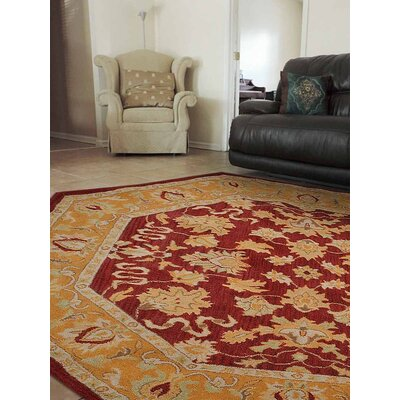 Cordia Vintage Hand-Tufted Red/Gold Area Rug