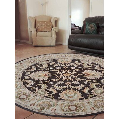 Beachampton Vintage Hand-Tufted Wool Brown/Beige Area Rug Rug Size: Round 8