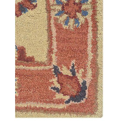 Beallsville Vintage Hand-Woven Wool Gold/Rust Area Rug Rug Size: Rectangle�5 x 8