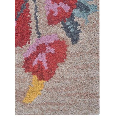 Brandie Hand-Woven Wool Red/Camel Area Rug Rug Size: Rectangle�5 x 8