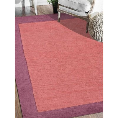 Ashly Solid Hand-Tufted Wool Orange/Purple Area Rug