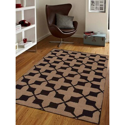 Bill Geometric Hand-Tufted Wool Beige/Brown Area Rug