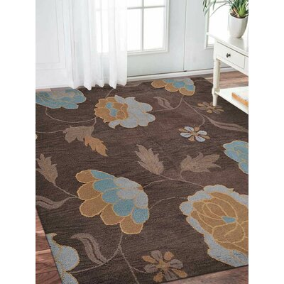 Craven Hand-Tufted Wool Brown Area Rug Rug Size: Square 6