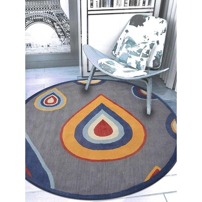 Duhart Contemporary Hand-Tufted Wool Charcoal Area Rug