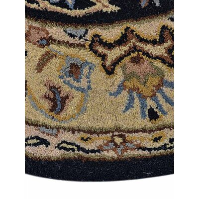 Acadian Vintage Hand-Tufted Wool Black/Gold Area Rug