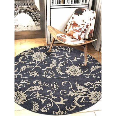 Brook Hand-Tufted Wool Charcoal/Beige Area Rug