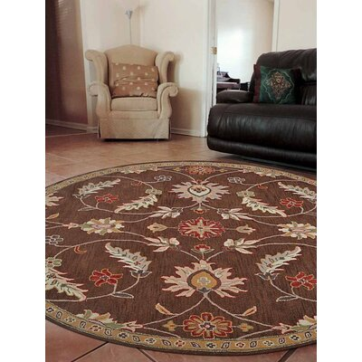 Dodsworth Vintage Hand-Tufted Wool Brown Area Rug Rug Size: Round 8