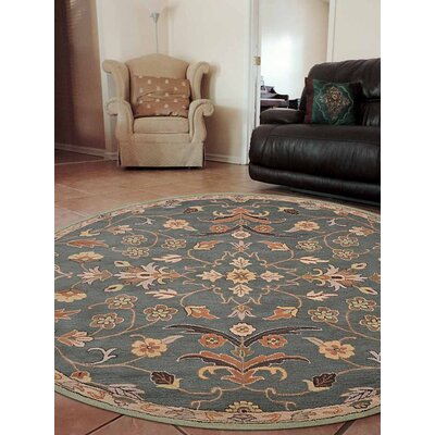Beaconcrest Vintage Hand-Tufted Wool Green Area Rug Rug Size: Round 8