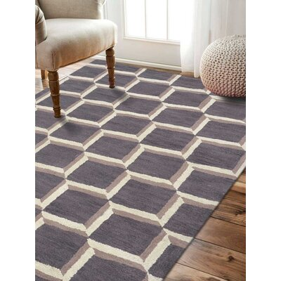 Myles Geometric Hand-Tufted Wool Brown/Beige Area Rug
