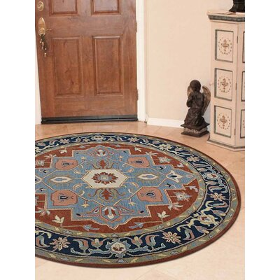 Andaz Vintage Hand-Tufted Wool Light Blue Area Rug