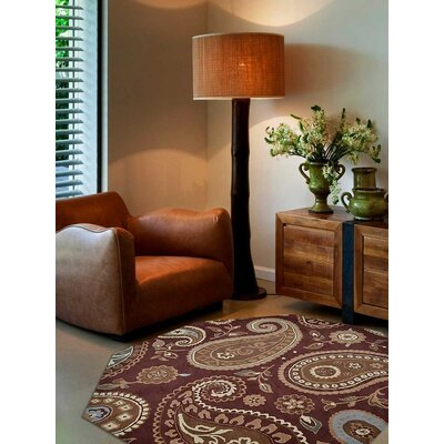 Kia Hand-Tufted Wool Brown Area Rug Rug Size: Octagon 8 x 8