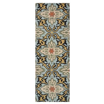 Morell Hand-Tufted Wool Blue Area Rug Rug Size: Runner 26 x 8
