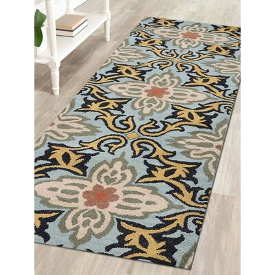 Kaylie Hand-Tufted Wool Blue Area Rug Rug Size: Runner 2 6 x 8