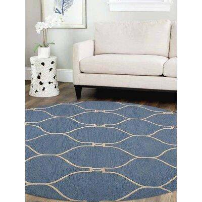 Bibbins Hand-Tufted Wool Blue Area Rug Rug Size: Round 8
