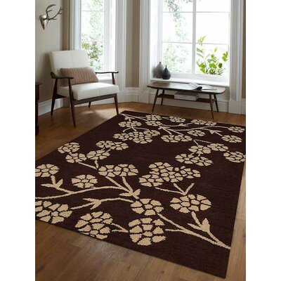 Jesse Hand-Tufted Wool Brown/White Area Rug