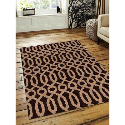 Bilbrook Hand-Tufted Wool Brown/Beige Area Rug