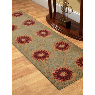 Maegan Hand-Tufted Wool Cream Area Rug Rug Size: Runner 26 x 8