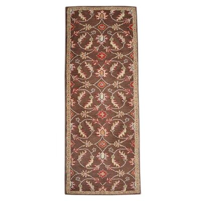 Mcandrews Vintage Hand-Tufted Wool Brown Area Rug Rug Size: Runner 26 x 8