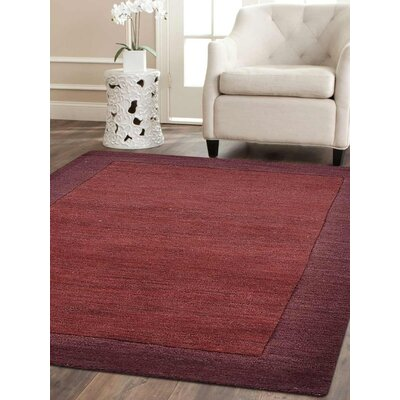 Brandie Hand-Tufted Wool Maroon/Purple Area Rug