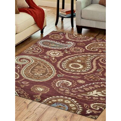 Kia Hand-Tufted Wool Brown Area Rug Rug Size: Square 6