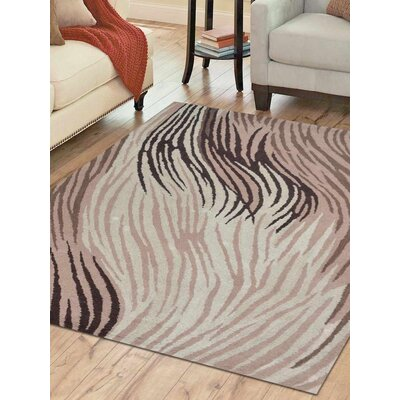 Aristocles Hand-Tufted Wool Cream Area Rug Rug Size: 5 x 8