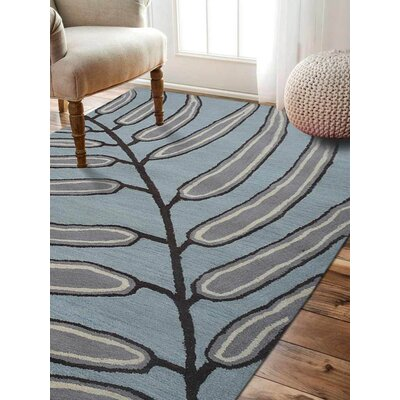 Lincolnshire Floral Hand-Woven Wool Light Blue Area Rug Rug Size: Rectangle�5 x 8