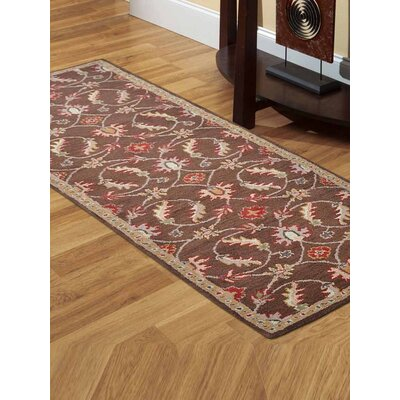 Dodsworth Vintage Hand-Tufted Wool Brown Area Rug Rug Size: Runner 2 6 x 8