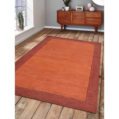 Ansari Hand-Tufted Wool Orange/Red Area Rug