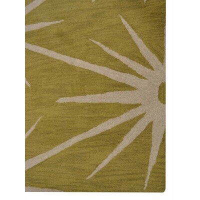 Arizmendi Hand-Woven Wool Green/Beige Area Rug Rug Size: Rectangle�5 x 8