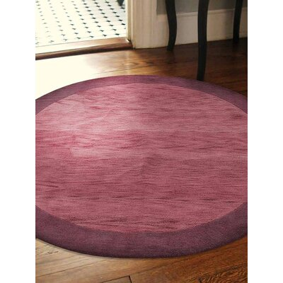 Anspach Hand-Tufted Wool Red/Purple Area Rug
