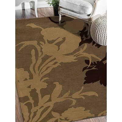 Shelbie Hand-Tufted Wool Brown/Beige Area Rug Rug Size: 4 x 6
