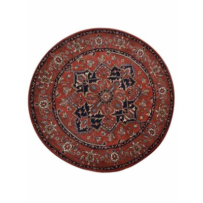 Lonsdale Vintage Hand-Tufted Wool Red Area Rug