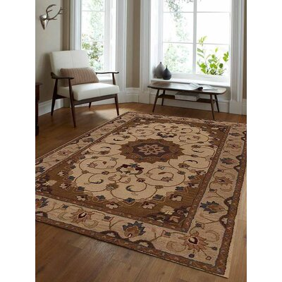 Abner Vintage Hand-Tufted Wool Cream/Beige Area Rug