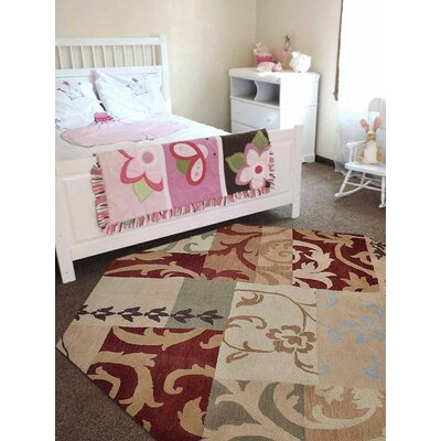 Bourbon Floral Hand-Tufted Wool Brown/Beige Area Rug