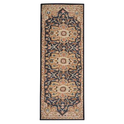 Mcalpine Vintage Hand-Tufted Wool Charcoal/Beige Area Rug Rug Size: Runner 26 x 8