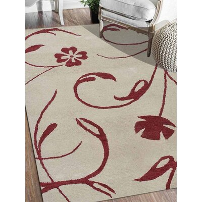 Rebeca Hand-Tufted Wool Beige Area Rug