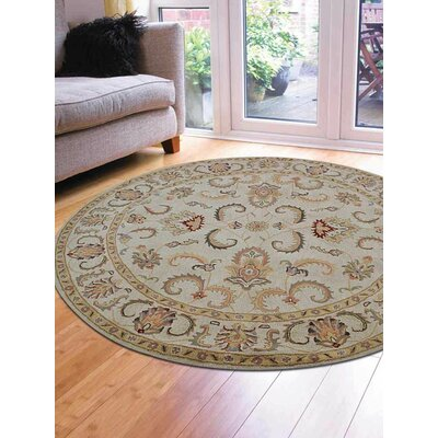 McLeansboro Vintage Hand-Woven Wool Beige/Ivory Area Rug Rug Size: Round 5