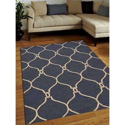 Bibbins Hand-Tufted Wool Blue Area Rug Rug Size: 5 x 8