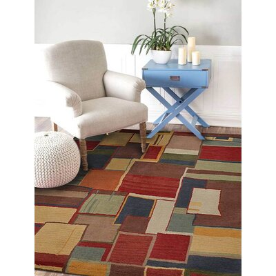 Courtney Hand-Tufted Wool Brown/Beige/Red Rug