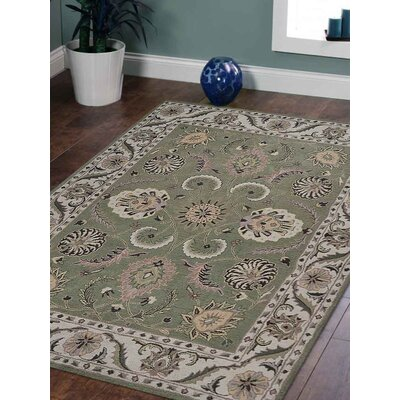 Coronet Hand-Tufted Wool Green/Beige Area Rug