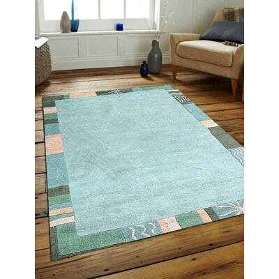 Ronni Hand-Tufted Wool Blue Area Rug