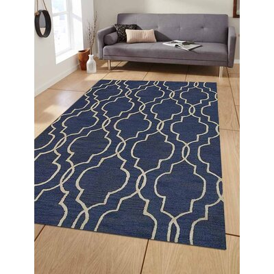 Ischua Hand-Tufted Wool Blue/Beige Area Rug