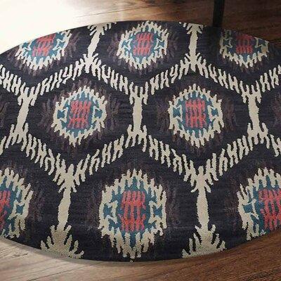 Brandt Hand-Tufted Wool Brown/Beige Area Rug Rug Size: Round 8