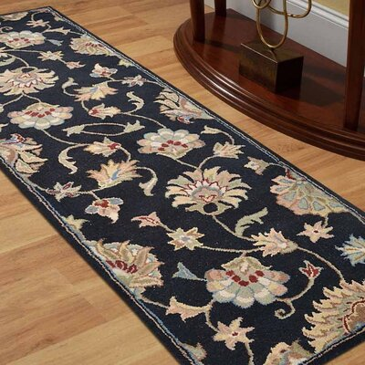 Alycia Hand-Tufted Wool Black Area Rug Rug Size: Runner 2 6 x 8