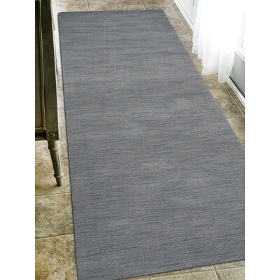 Riggio Hand-Knotted Wool Gray Area Rug Rug Size: Runner 26 x 10