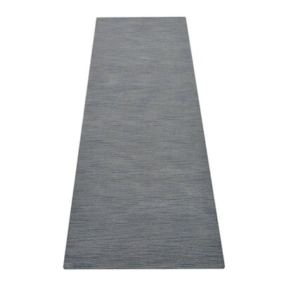 Delano Rectangle Solid Hand-Woven Wool Light Blue Area Rug Rug Size: Rectangle 8 x 10
