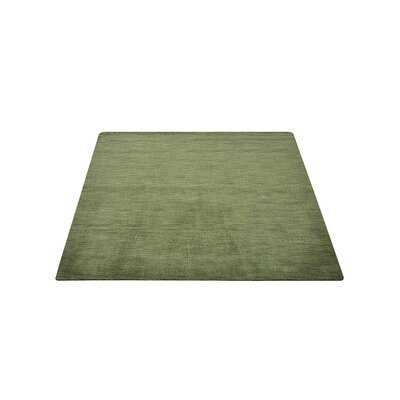 Delano Solid Hand Knotted Wool Green Area Rug Rug Size: Square 10